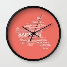 Typographic City: Hamburg Wall Clock