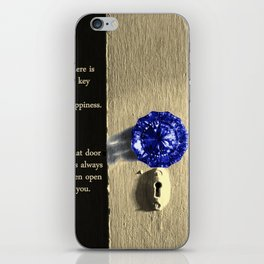 Key to Happiness iPhone Skin