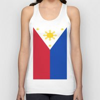philippines Tank Tops featuring Flag of the Philippines by Neville Hawkins