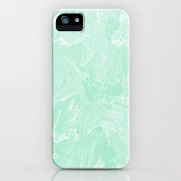 Pastel Mint Green Marble Minimalist iPhone Case