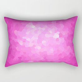 Pink and White Modern Abstract Geometric Shape Rectangular Pillow