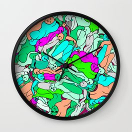 Sleepy Heads - Emerald Green Wall Clock
