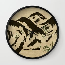 Sleepy Bear Mountain Wall Clock
