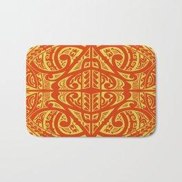 Polynesian inspired Tatau design Bath Mat