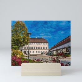 Schloss Grosslaupheim mit Kulturhaus Mini Art Print