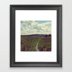 the creek Framed Art Print