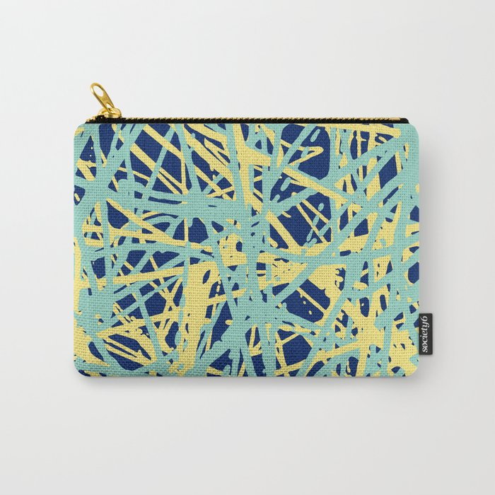 Daisy Scribble Navy, Mint and Lemon Carry-All Pouch