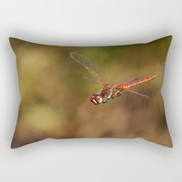Red dragonfly flying Rectangular Pillow