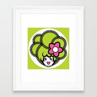 pagan Framed Art Prints featuring Pagan Lime by Pagan Holladay