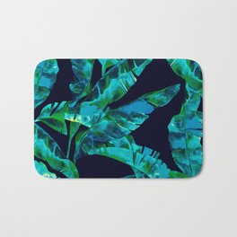 Tropical addiction - midnight grunge Bath Mat