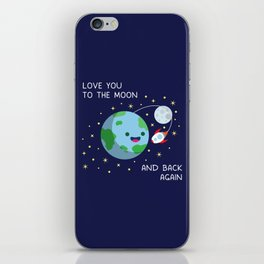 Love You to the Moon and Back Again iPhone Skin
