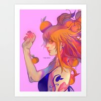 My Orange Lady Art Print