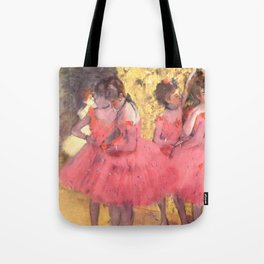 The Pink Dancers Before the Ballet Tote Bag
