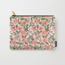 Pink Botanical Dream Pattern Carry-All Pouch