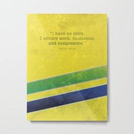 Ayrton Senna - I have no idols Metal Print