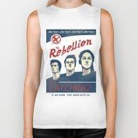 propaganda Biker Tanks featuring The Rebellion - Propaganda by Head Glitch