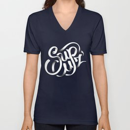 Sup Cuz - Typographic Lock-up Unisex V-Neck