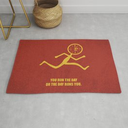 Lab No. 4 - You Run The Day Or The Day Runs You Corporate Start-up Quotes Rug