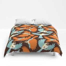 Chickadees in Brown Comforters