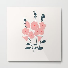 hollyhocks Metal Print