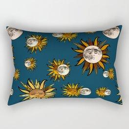 Sunflower Eclipse Rectangular Pillow