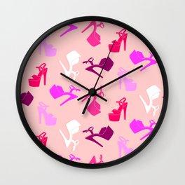 Pole dance shoes Wall Clock