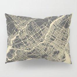 Montreal Map yellow Pillow Sham