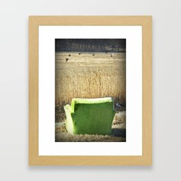 Big Green Monster Framed Art Print
