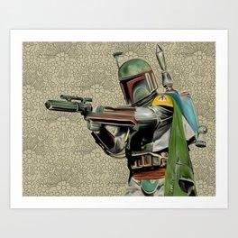 Starwars Boba Fett Art Print