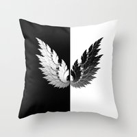 angel Throw Pillows featuring Angel by haroulita