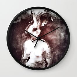 """The Rabbit Stared at Alice"" By Nacho Dung. Wall Clock"