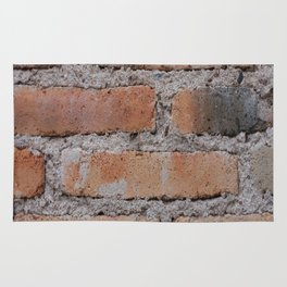 Aged Brick Wall rustic decor Rug