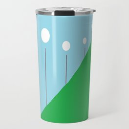 Abstract Landscape - Lights on the Hill Travel Mug