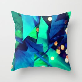 Senbazuru | greens n blues Throw Pillow