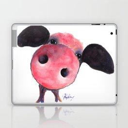 Nosey Pig ' CLARENCE ' by Shirley MacArthur Laptop & iPad Skin