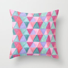 pastel triangle pattern Throw Pillow