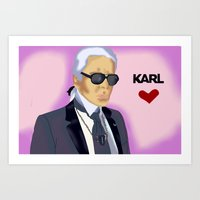 karl Art Prints featuring Karl by Irina Lendyel