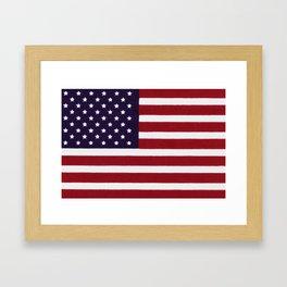 """Stars & Stripes flag, painterly """"old glory"""" Framed Art Print"""