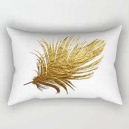 Golden Feather Rectangular Pillow