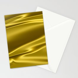 Gold satin texture Stationery Cards