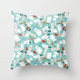 Very Sweary Holidays: Snowmen Fucking Love Christmas Throw Pillow