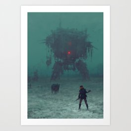1920 - red wreck Art Print