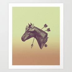 Blind Horse Art Print