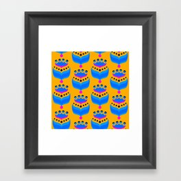 Mod Pop Blue Framed Art Print