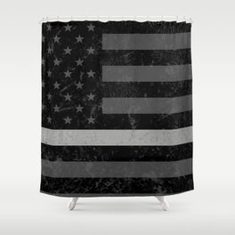 Thin Silver Line Shower Curtain