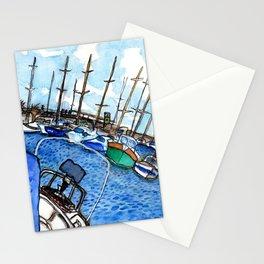 Boats at the Marina Stationery Cards