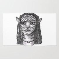 avatar Area & Throw Rugs featuring Avatar: Neytiri by SushiKitteh'sCreations