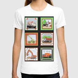 Job Site Construction Vehicles T-shirt