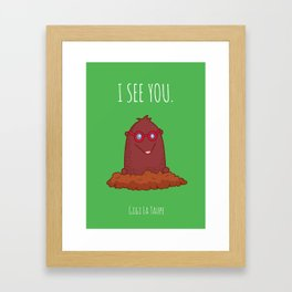 Gigi the Mole Framed Art Print