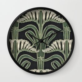 Art Nouveau Botanical Wall Clock